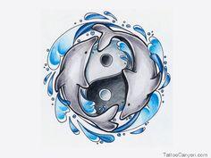 Yinyangswimingdolphinstattoodesign picture 12796