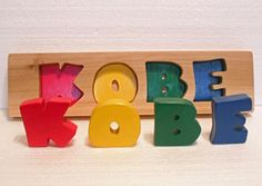 Rainbow Name Puzzle  Personalized  Raised Stand alone
