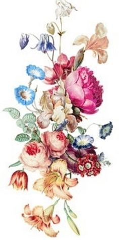 "SHIP FROM NY - 7"" x 3"" Large vintage floral temporary tattoo."