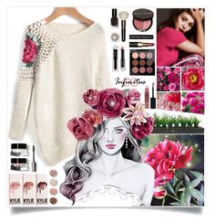"""""""Roses, Roses and More Roses"""" by angelstylee ❤ liked on Polyvore featuring Bobbi Brown Cosmetics, Olsen, Pottery Barn, Vintage, MAC Cosmetics, La Petite Robe di Chiara Boni, Terre Mère, Laura Mercier and Maybelline"""
