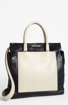 Gorgeous Marc Jacobs tote. The black + cream is so striking.