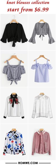 Shop online for the latest collection of PIN US KnotBlouse 20180319 E Find the best styles and deals at ROMWE right now! Tie Dye Shirts, T Shirt Yarn, Petite Fashion, Diy Fashion, Womens Fashion, Yoga For Pregnant Women, Cool Outfits, Casual Outfits, Tumblr Outfits