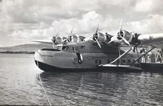 Pan AM Clipper Flying Boat | Above: Captain Ed Musick at the controls of the PAA M-130. Behind the ...