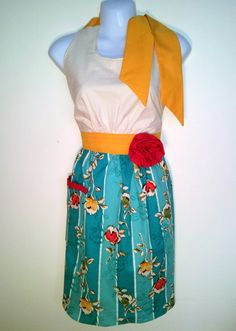 I have one and they are great quality. I love it!!!    Full Apron Caribbean Breeze  Turquoise Floral by ChicChefBoutique, $35.00