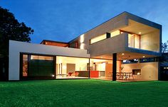 A rebuilt home inspired by Rudolph Schindler. This started out as a single story track house.