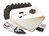 #7: Charles Leonard Dry Erase Lapboard Class Pack, Includes 12 each of Whiteboards, 2 Inch Felt Erasers and Black Dry Erase Markers  (35036)