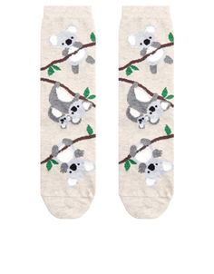 Cute and eye-catching, our climbing koala printed socks are sure to brighten up your day – and outfit – thanks to their adorable design and touches of shimme...