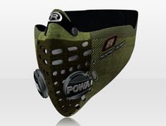 Respro® Skins™ pollution mask - HERRINGBONE Green #matchyourstyle