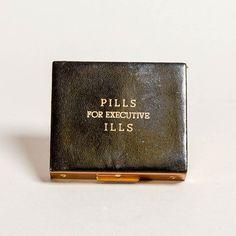 Blade + Blue Vintage &|39;Pills For Executive Ills&Pill Box
