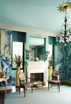 Mural from a greatly enlarged painting by Elizabeth Duquette.