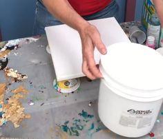 Art supplies for acrylic pouring, Caren Goodrich, Nova paints. myb