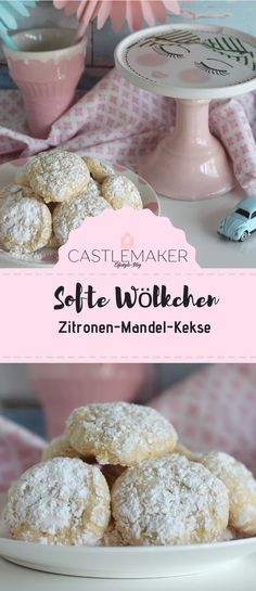 Einfaches Rezept für softe Zitronen-Mandelkekse – Wölkchenkekse So easy and so lemony are these delicious cloud biscuits with lemons and almonds and white chocolate. The dough is made super fast and soon you can enjoy the delicious lemon biscuits. Cinnamon Cream Cheese Frosting, Cinnamon Cream Cheeses, Cookie Recipes, Snack Recipes, Snacks, Lemon Biscuits, Super Rapido, Chocolate Blanco, Almond Cookies
