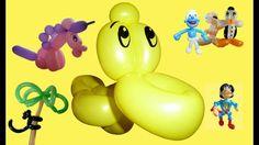 86  Ballon Ente, balloon duck, Modellierballon Ballonfiguren