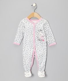 Take a look at this Vitamins Baby Ivory Leopard Footie on zulily today!