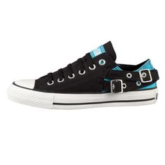love <3 blue, black, buckles and converse. Make them hightops and they're perfect!