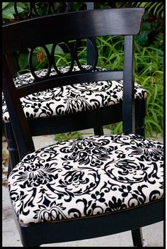 Chair makeovers are a definite must: cheap, easy and cute!