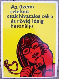 Üzemi telefon Vintage Ads, Vintage Posters, Illustrations And Posters, Hungary, Budapest, The Past, Advertising, Clip Art, Graphic Design