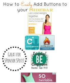Blogger Tips: How to Add a Button to your Sidebar #bloggertips #blogging