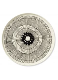 black and white abstract plates - marimekko