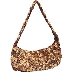 Moyna Handbags Large Crescent Purse Brown - Moyna Handbags Fabric Handbags