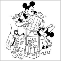 Free #Mickey #Christmas Coloring Pages