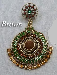 Brown & Amber Rhinestone Fashion Post Earrings - Women's Western Jewelry #fashion #accessories #cowgirl