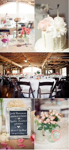 pretty barn. Also love the rustic chic framing of the menu sign!