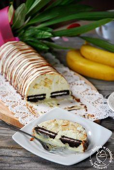 Deser pistacjowy z bananami