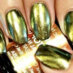 ☆Gold Mirror Chrome☆  #nails #uñas #notd #nailart #uñasdecoradas #mani #manicure…