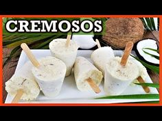 Como hacer HELADOS de COCO - helados de leche con COCO cremosos - YouTube Coconut Popsicles, Yogurt Popsicles, Guatemalan Recipes, Guatemalan Food, Burfi Recipe, Milk Ice Cream, Ice Milk, Delicious Desserts, Yummy Food
