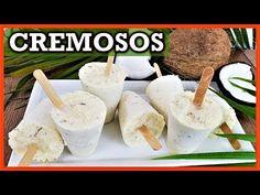 Como hacer HELADOS de COCO - helados de leche con COCO cremosos - YouTube Coconut Popsicles, Yogurt Popsicles, Guatemalan Recipes, Guatemalan Food, Mexican Food Recipes, Dessert Recipes, Burfi Recipe, Milk Ice Cream, Ice Milk