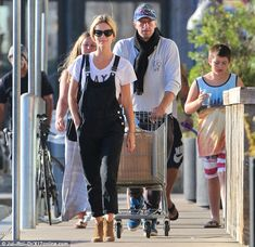 Stepping out: Chris Martin and girlfriend Annabelle Martin enjoyed a shopping trip in Malibu on Sunday afternoon