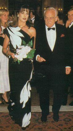 Princess Caroline and Prince Rainier of Monaco.
