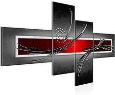 Bilder Abstrakt Wandbild - Vlies Leinwand - 130 x 72.5 cm - Abstrakt Bild - Kunstdrucke mehrere Farben und Größen im Shop - Fertig zum Aufhängen - !!! MADE IN GERMANY !!! - 1025458a Home Bild, Decoration, Bedroom Decor, Drawings, Ideas, Artwork, Salons, Frames, Modern Paintings