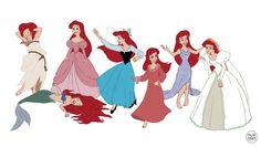 Ariel Wardrobe by LaTaupinette on DeviantArt Little Mermaid Outfit, Ariel The Little Mermaid, Cute Disney, Disney Girls, Disney Magic, Disney Art, Walt Disney, Ariel Movie, Pixar