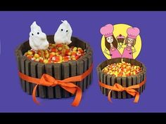 Kit-Kat Halloween cake or thanksgiving - how to Tutorial by Charli's crafty kitchen - YouTube