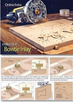 Making Bowtie Inlay - Finishing and Decoration Tips and Techniques   WoodArchivist.com