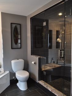 Contemporary Bathroom Half Wall Design, Pictures, Remodel, Decor and Ideas - page 8