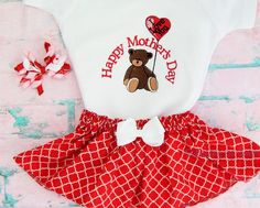 Mother's Day  Girl's outfit  Infant to 5/6T by EmbroiderybySharon
