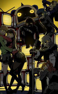 Shin Megami Tensei: Persona 4 | Amagi Yukiko | Hanamura Yousuke | Kuma (Teddie) | Narukami Yu | Satonaka Chie | Shirogane Naoto | Tatsumi Kanji