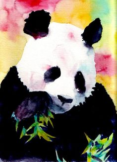 I should make this watercolor of PABLO (my panda pillow pet!) To hang on the wall in my dorm at college. Tyrone Frizzles (Amanda's frog) too. Panda Love, Cute Panda, Panda Panda, Watercolor Animals, Watercolor Art, Panda Painting, 8th Grade Art, Animal Art Projects, Ecole Art