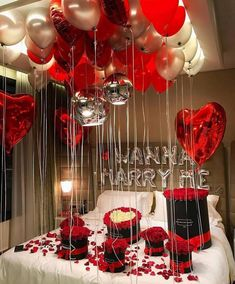Valentines day proposal is a very cute and romantic way to pop the the question. Don't firget about the main rule of Valentine's Day - many-many hearts! Cute Proposal Ideas, Romantic Proposal, Perfect Proposal, Romantic Ideas, Romantic Gifts, Engagement Proposal Ideas, Engagement Rings, Surprise Proposal, Romantic Room Decoration