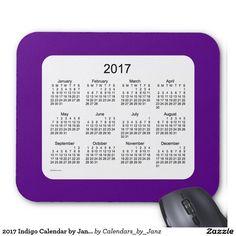 2017 Indigo Calendar by Janz Mousepad