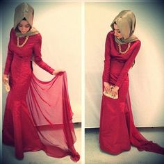 Some Beautiful and Unique Hijab Dresses