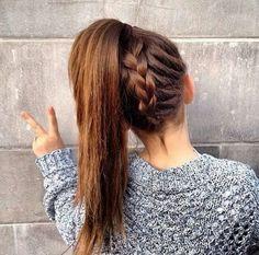 tresse queue cheval tendance hiver 2015-coiffure