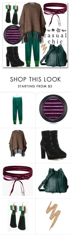 """""""Beautiful Style"""" by ludmyla-stoyan ❤ liked on Polyvore featuring J.W. Anderson, MAC Cosmetics, Diane Von Furstenberg, Jimmy Choo, Boohoo, RVCA, Urban Decay, velvet, pants and earrings"""