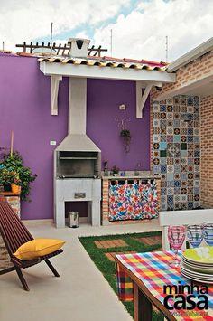 Varanda decorada com azulejo português