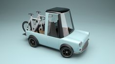 A characterization of a classic Mini truck, fun, cute, disproportionate, and awesome. Low Poly Car, Bongos, Low Poly Games, Car 3d Model, Car Illustration, 3d Illustrations, Modelos 3d, Mini Trucks, Car Drawings
