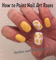 nail art rose tutorial - too fun and it doesn't look that complicated:)