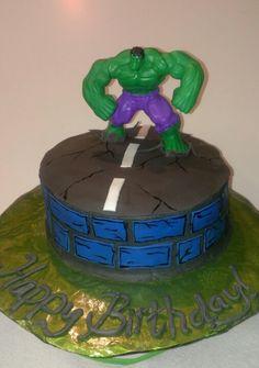 Incredible Hulk cake...